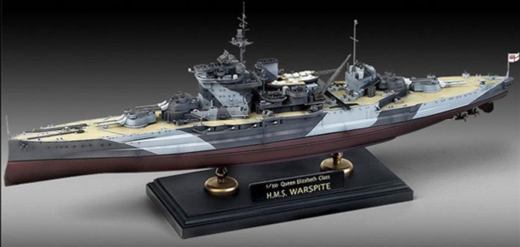 NEW QUEEN ELIZABETH CLASS H.M.S. WARSPITE 1 350 ACADEMY MODEL KIT ship