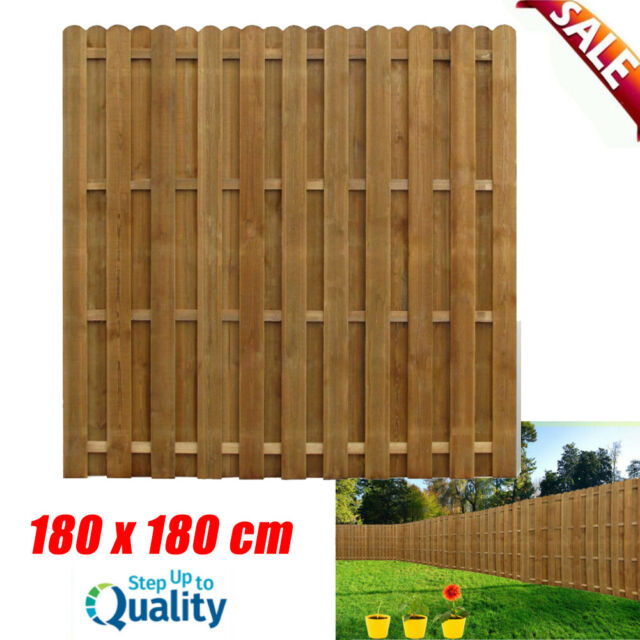 Gartenzaun Sichtschutzzaun Kiefernholz Dichtzaun Holz Zaun 180x180cm