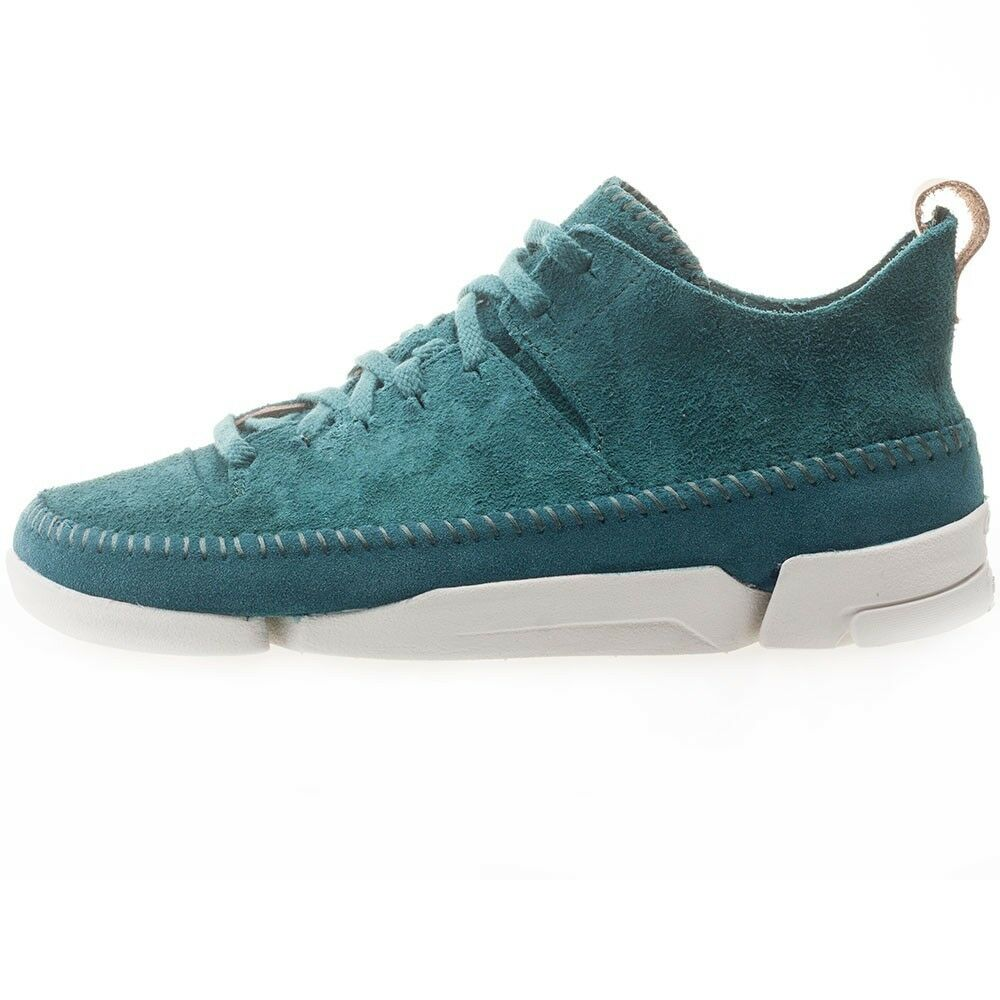 Clarks Original trigenic Uomo ** X Wallabee trigenic Original FLEX ** Teal CAMOSCIO ** a7bf0b
