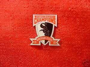 Details about Chicago White Sox 1993 AL West Champions Shield Pin MLB