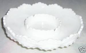 """North American Enthusiastic Fenton Glass Art Hobnail Milk Candle Bowl Ashtray 8"""" Large Good Companions For Children As Well As Adults"""