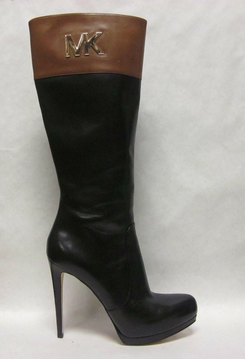Michael Kors Hayley Two Tone (Black/Brown) Boot - size 7.5