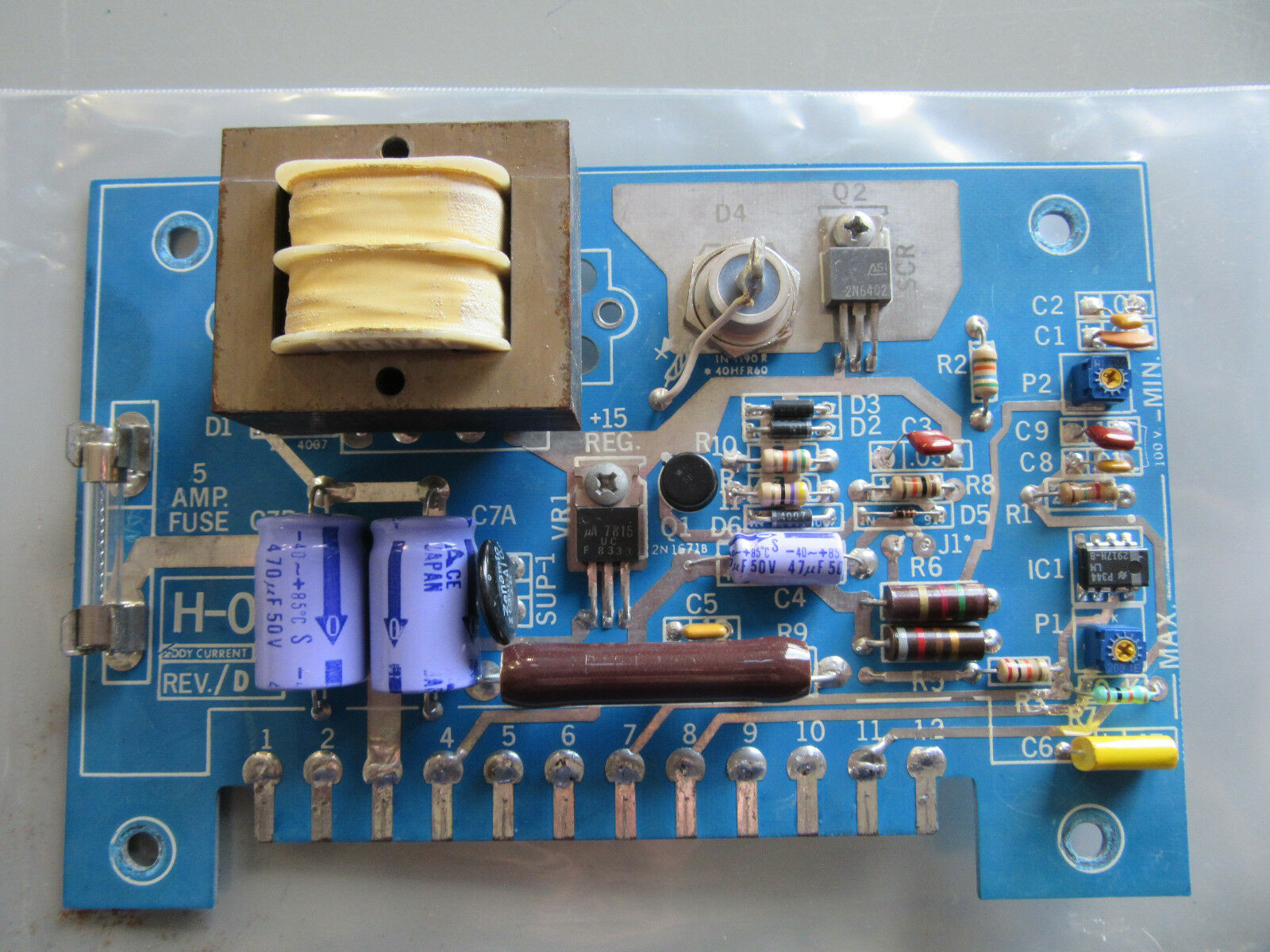 Eddy Current H-O1 Circuit Borad H-01 VGC   With Guarantee & Free Shipping