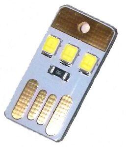 Lotto x 3 pezzi - MINI Luce USB Notte Mobile 3 LED - Italia - Lotto x 3 pezzi - MINI Luce USB Notte Mobile 3 LED - Italia