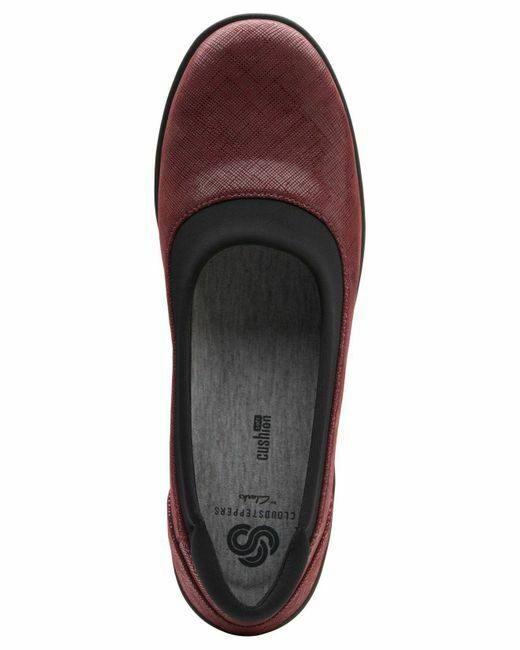 Clarks Cloudsteppers Ayla Low D-Fitting D-Fitting D-Fitting Burgundy Red Womens Pumps 78bf44