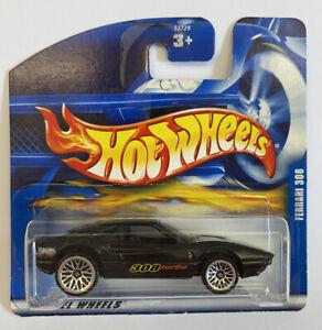 2002-HotWheels-FERRARI-308-GTB-TURBO-NERO-MOLTO-RARA-Nuovo-di-zecca-MIOC
