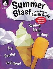 Summer Blast Getting Ready For Fourth Grade Spanish Reading, Math, Writing 3-4
