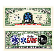 EMS Paramedic Ambulance Novelty Million Dollar Bill Funny Money Gag Gift Note