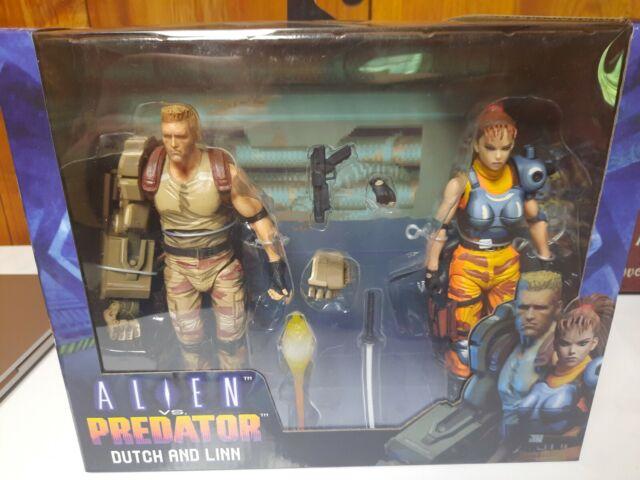 Alien vs Predator Dutch and Linn 2-Pack 1/12 Scale AVP Action Figures – NECA