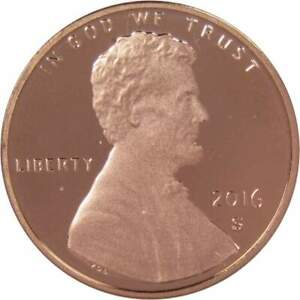 2016 S Lincoln Shield Cent Choice Proof Penny 1c Coin Collectible