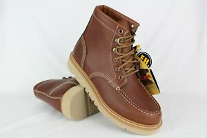 New-Justin-Work-Men-039-s-Jacknife-Moc-Toe-Work-Boots-9-5m-Tan-Brown-WK320