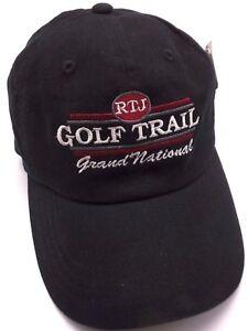 RJT TRAIL GRAND NATIONAL GOLF COURSE (AL) black adjustable cap   hat ... ca500d4a12b