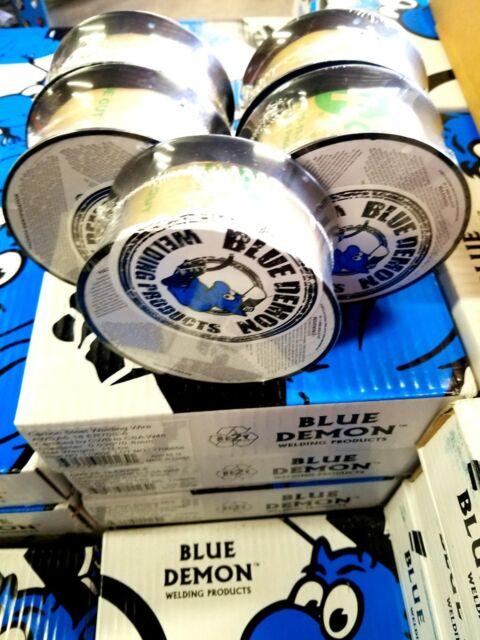E71T-11 .030 Gasless Flux Core MIG Welding Wire 2 Lb 5 PACK DEAL Blue Demon USA