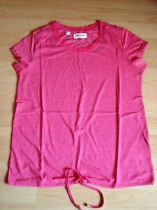 T-Shirt-Kurzarm-pink-Gr-XS-34-36-evtl-38-v-John-Baner-unten-Tunnelzug-Neu