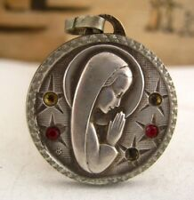 The Virgin Mary Our Lady of Good Counsel vintage religious medal pendant charm