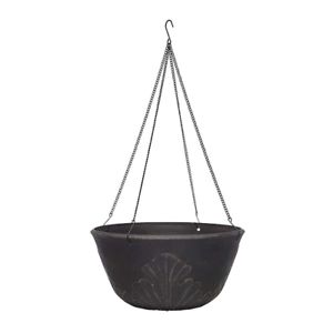 Dark-Brown-Resin-Hanging-Planter-Flower-Pot-Outdoor-Indoor-UV-Protectors