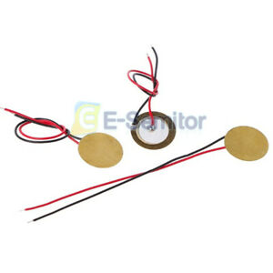 10x Piezoelectric Piezo Ceramic Wafer Plate Dia 15mm For Buzzer Loudspeaker JR