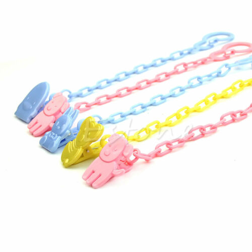 2Pc Mini Baby Dummy Pacifier Soother Nipple Chain Clip Buckle Holder Toddler Toy