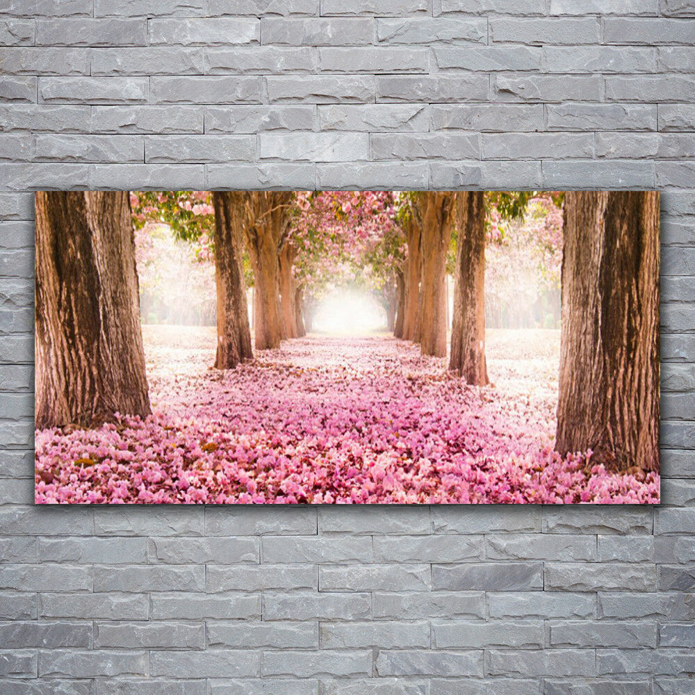 Verre Imprimer Wall Art Image 120x60 Photo trougetoir Troncs D'Arbres Nature