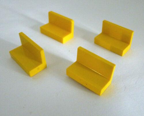 4 x LEGO® 4865 City,System Baustein,Bänkchen in gelb 1x2