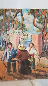 Huile-sur-toile-1973-signee-Painting-1973-signed-provence