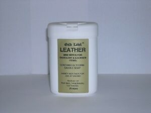GOLD-LABEL-LEATHER-WIPES-horse-tack-cleaner-saddle-soap-bridle-showing