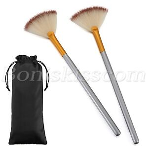 2pcs-Professional-Blush-Powder-Sector-Fan-Soft-Makeup-Brush-Cosmetic-Beauty-Tool