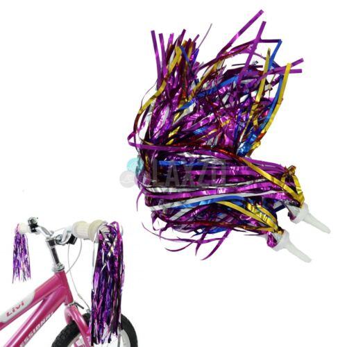 2 X Bike Handlebar Streamer Tassel Colourful Girls Boys Kids Bicycle New