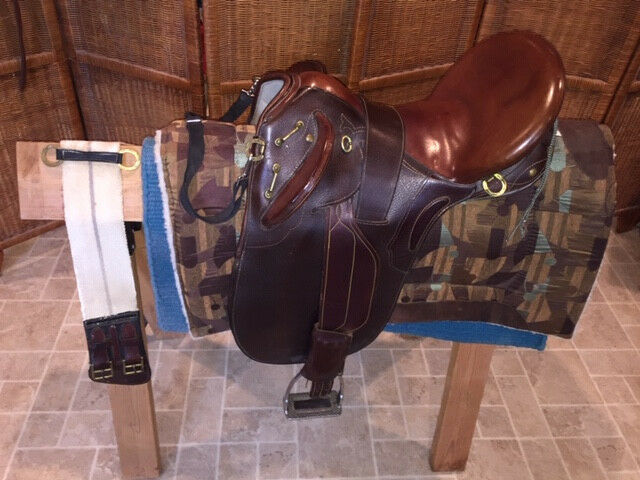 Used Australian Brown Saddle - Good Condition & Refurbished  with New Stit ng  free delivery and returns