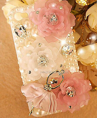 3D ballet girl bling pearl phone case iphone 6 5s iphone 7 samsung note3\45 s4\5