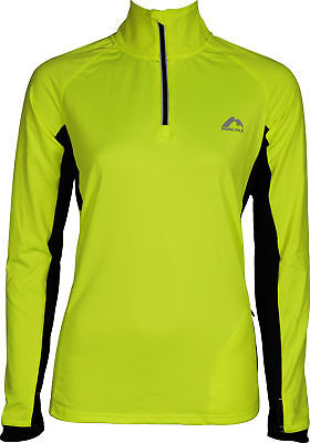 Gutherzig More Mile Vancouver 2 Womens Half Zip Thermal Running Top - Yellow Schnelle WäRmeableitung