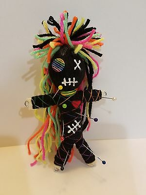 Authentic Voodoo doll real Neon Rainbow Stitch 7 pins guide new orleans hoodoo