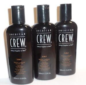American-crew-Classic-3-in-1-Shampoo-Balsamo-amp-lavaggio-del-corpo-3-x-100ml