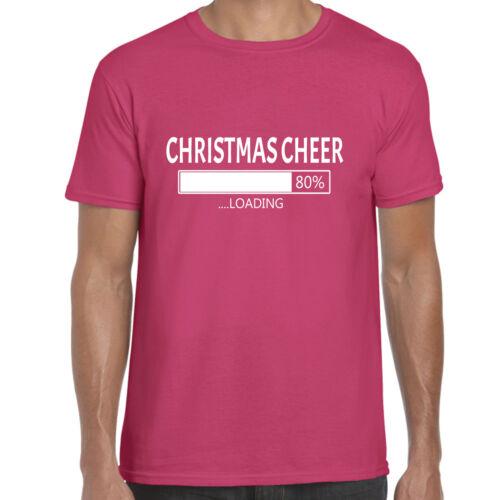 Unisex T Shirt Christmas Cheer Now Loading Funny Mens grabmybits xmas tee