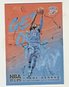 2018-19-Panini-Hoops-GET-OUT-THE-WAY-HOLO-FOIL-GOW-12-PAUL-GEORGE-OKC-Thunder