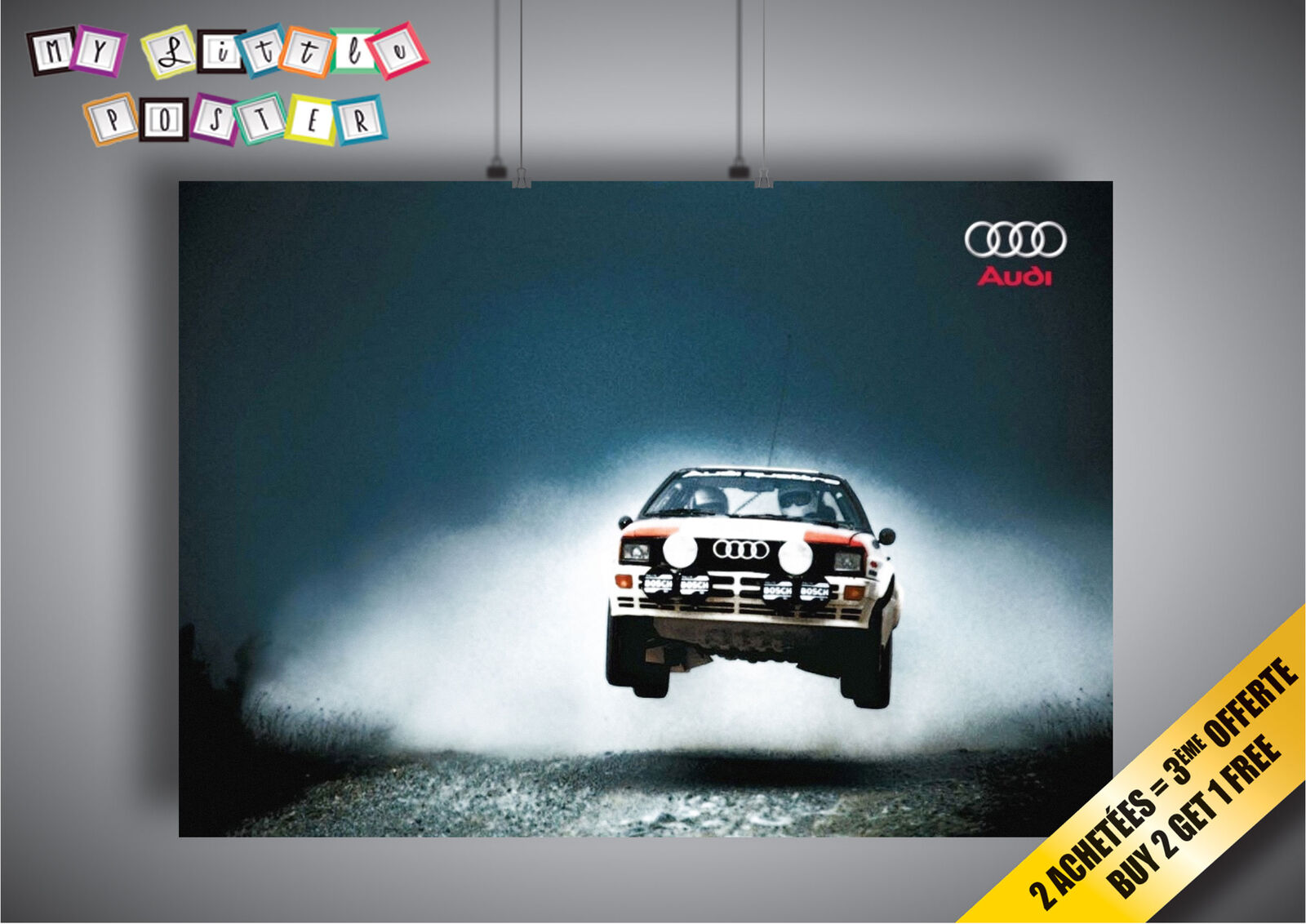 Poster Audi Quattro Rally Big Jump Ebay