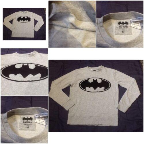 BATMAN Bat Man Adulto Uomo Donna Maglione Donna logo simbolo Unisex Grigio Lungo