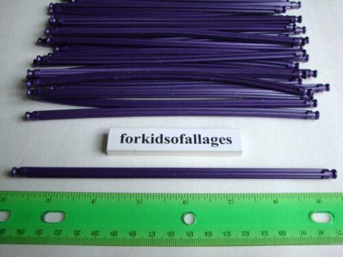 """KNEX BUILDING TOY LOT 25 Dark Purple Flexi Rods 7 1//2/"""" Flexible 7.5/""""Parts//Pieces"""