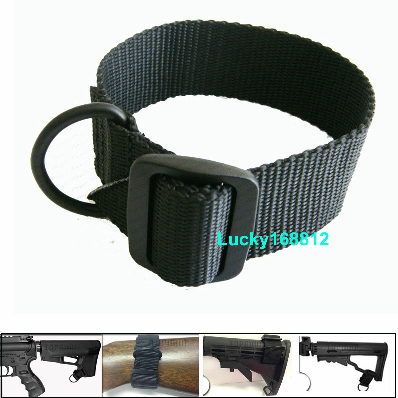 50 Pack Universal Rifle Pistola Escopeta Sling Loop Stock punto único correa de Adaptador