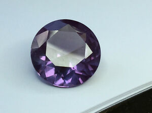 (1mm - 16mm) Round Faceted AAA Lab Created Alexandrite Corundum