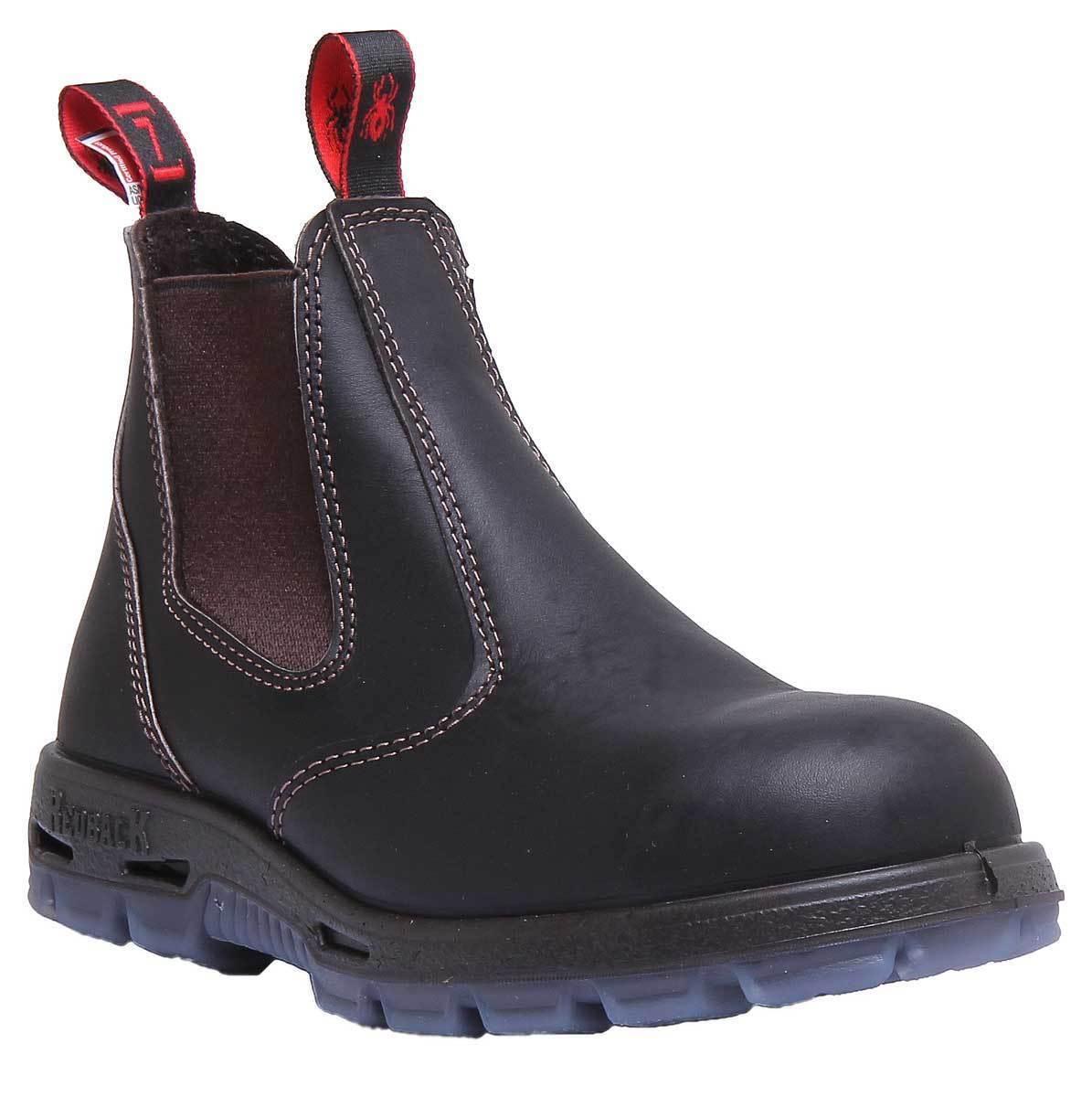 ROT Back Usbok Men Leder Dark Braun Chelsea Safety Stiefel Gre 7 - 12