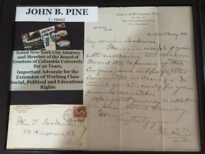Columbia Acceptance Letter.Details About Signed John Pine 1884 Columbia University Trustee Lawyer Letter With Envelope