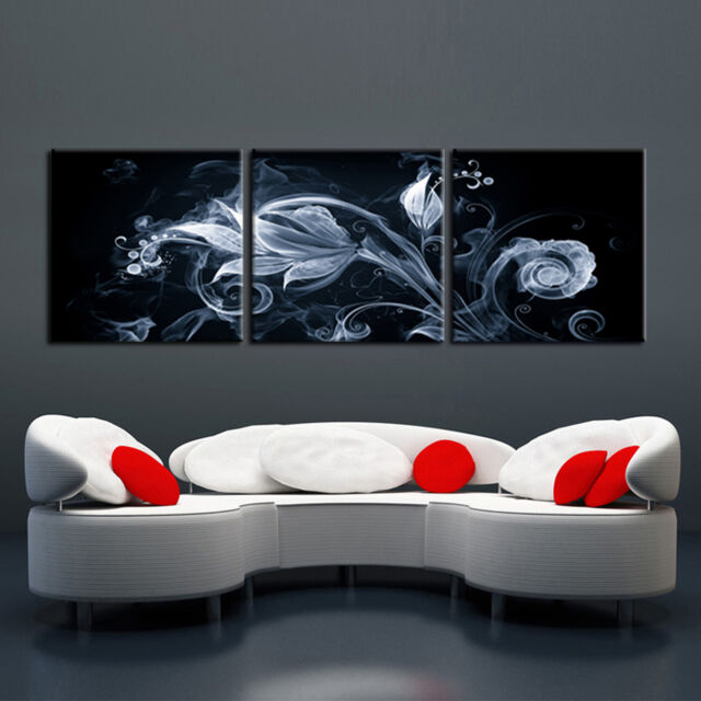 Abstract ready to hang 3piece modern mounted on MDF wall art/Improved canvas art