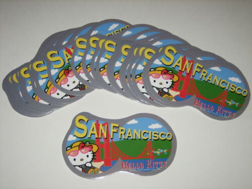 25 HELLO KITTY GOLDEN GATE BRIDGE SAN FRANCISCO STICKERS SANRIO LICENSED NEW!!