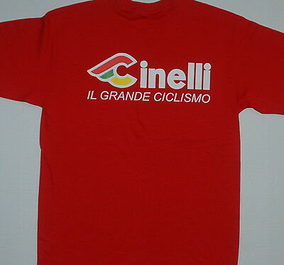 Cinelli Cycling Tee Shirt - Bike T-Shirt RED, BLUE ONLY in S, M, XXL ONLY !!