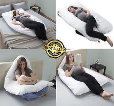 Bluestone 64-PREGN-U-WHI U-Shape Cotton Pregnancy Pillow