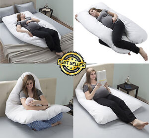 u shaped pregnancy pillow Pregnancy Pillow, Full Body Maternity Pillow With Contoured U  u shaped pregnancy pillow