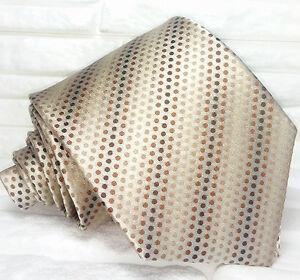 Cravatta-Nuova-Made-in-Italy-100-seta-marrone-realizzata-a-mano-8-5-cm