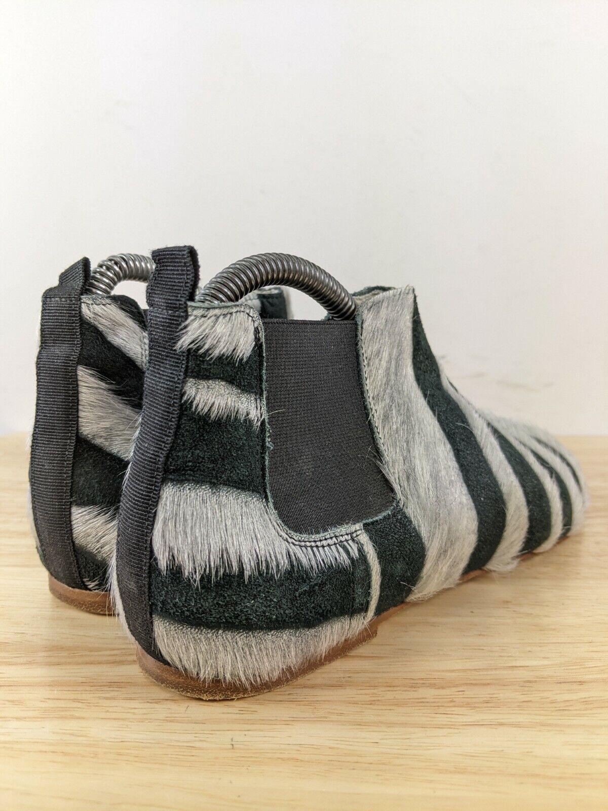 Collection Privee Black Zebra Pony Hair Chelsea B… - image 7