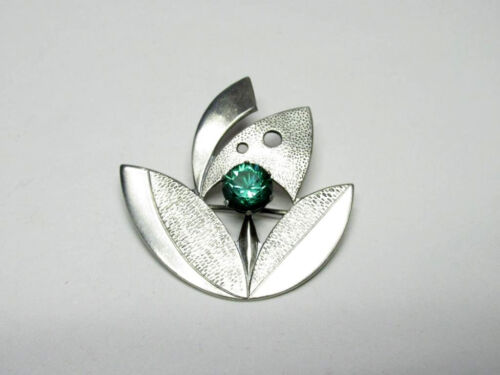 Vintage USSR  Ukranian 875 Silver Pin Brooch With Slippers